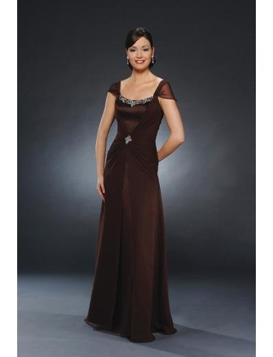 A-Line Square Floor Length Chiffion Mother of the Bride Dresses new style(MBD0063)