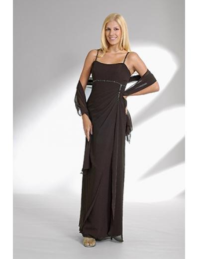 Column/Sheath Spaghetti Straps Tea-length Chiffion Mother of the Bride Dresses new style(MWYN069)