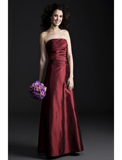 A-Line Strapless Tea-length Taffeta Mother of the Bride Dresses(MBD0092)