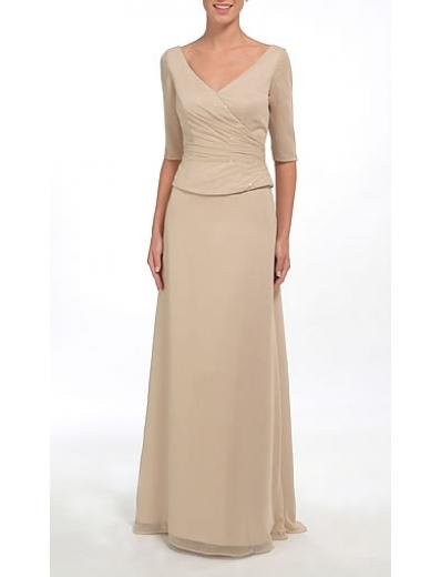 A-Line V-neck Floor- Length Chiffon Mother of the Bride Dresses new Style(MWYN005)