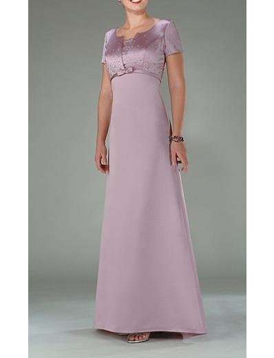 A-Line Round-neck Floor- Length Satin Mother of the Bride Dresses new Style(MWYN002)