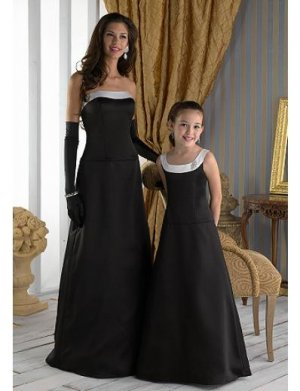 A-Line Strapless Floor Length Satin Mother of the Bride Dresses new style(MBD0087)