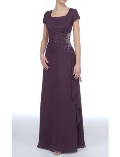 A-Line Scoop Floor- Length Satin Mother of the Bride Dresses new Style(MWYN010)