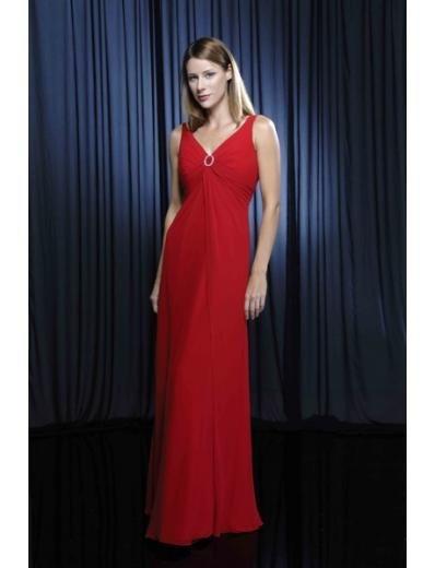 Column/Sheath V-neck Floor Length Chiffion Mother of the Bride Dresses new style(MWYN095)