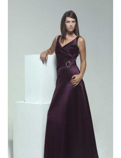 A-Line V-neck Floor Length Satin Mother of the Bride Dresses new style(MWYN092)