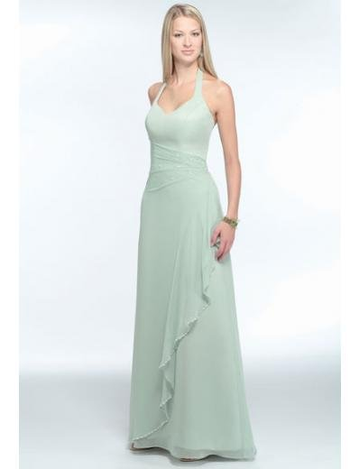 A-Line Halter Top Floor- Length Chiffon Mother of bride Dress new Style(MWYN014)