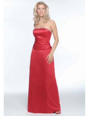 A-Line Strapless Floor- Length Satin Mother of the Bride Dresses new Style(MWYN013)