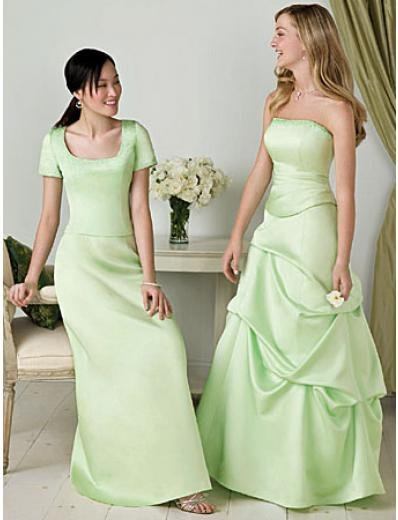 A-Line Strapless Floor Length Satin Mother of the Bride Dresses new style(MBD00108)