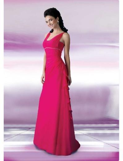 A-Line/Princess Halter Top Floor Length Satin Bridesmaid Dresses for brides 2010 style(BD0119)