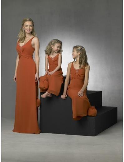 Column/Sheath V-neck Floor Length Chiffon Bridesmaid Dresses for brides new style(BD0268)