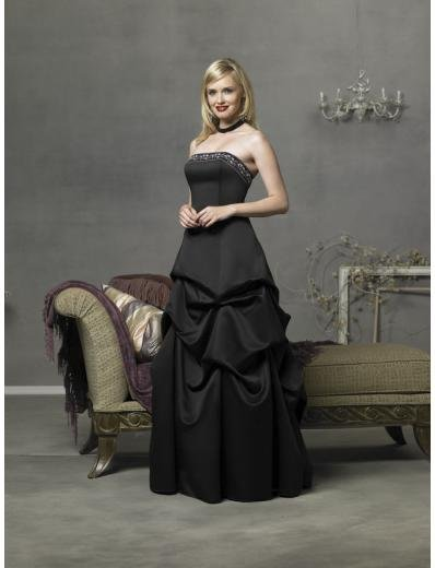 A-Line/Princess Strapless Floor-length Satin Bridesmaid Dress for brides new Style(BD0300)