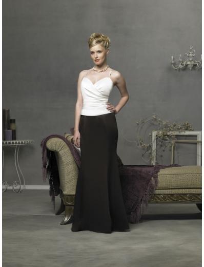 Column/Sheath Spagetti Straps Floor length Satin Bridesmaid Dress for brides new Style(BD0301)