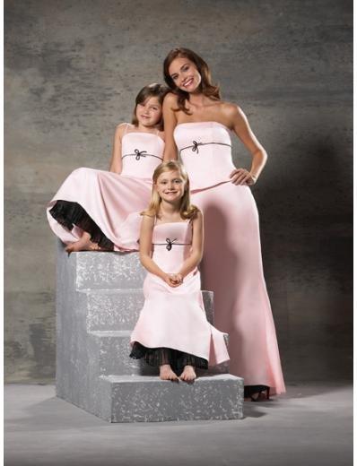 A-Line/Princess Strapless Floor-Length Satin Bridesmaid dress for brides new Style(BD0239)