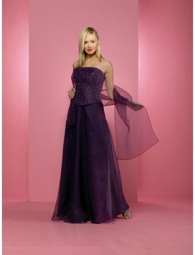 A-Line/Princess Strapless Floor-Length Chiffon Bridesmaid dress for brides new Style(BD0237)