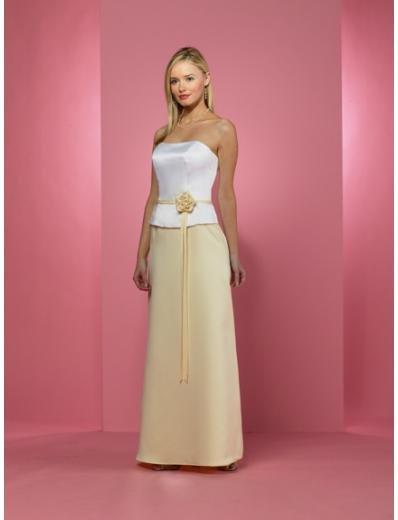 A-Line/Princess Strapless Floor-Length Satin Bridesmaid dress for brides new Style(BD0235)
