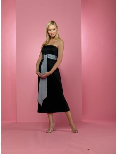 A-Line/Princess Strapless Tea-length Satin Bridesmaid dress for brides new Style(BD0234)