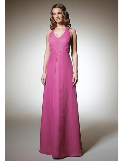A-Line/Princess Halter Top Floor-length Satin Bridesmaid Dress for brides new Style(BD0302)