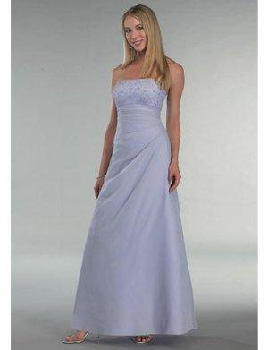 A-Line/Princess Strapless Floor-length Satin Bridesmaid Dress for brides new Style(BD0348)