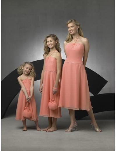 A-Line/Princess Halter Top knee-length Chiffon Bridesmaid Dresses for brides new style(BD0267)