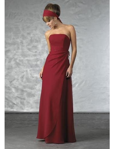 Column/Sheath Strapless Floor-length Satin Bridesmaid Dress for brides new Style(BD0360)