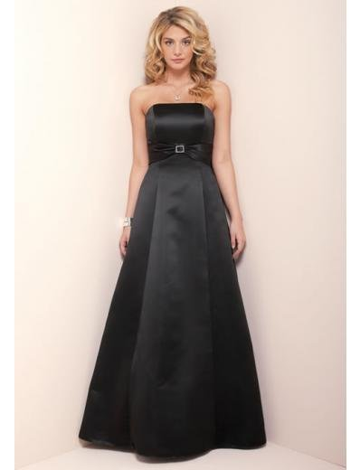 A-Line/Princess Strapless Chapel train Satin Bridesmaid Dress for brides new Style(BD0357)