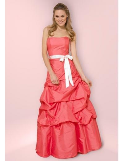 A-Line/Princess Strapless Chapel Train Taffeta Bridesmaid Dress for brides new Style(BD0353)