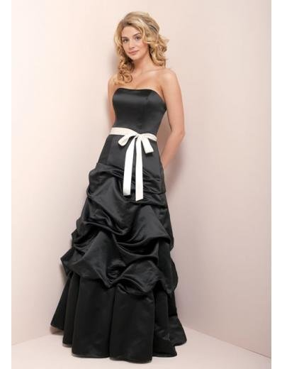 A-Line/Princess Strapless Chapel Train Taffeta Bridesmaid Dress for brides new Style(BD0351)