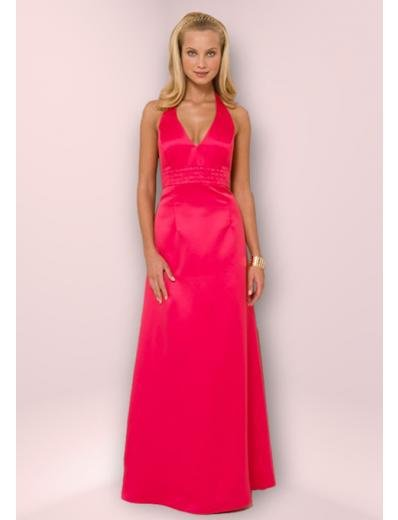 Column/Sheath Halter top Chapel Train Satin Bridesmaid Dress for brides new Style(BD0352)