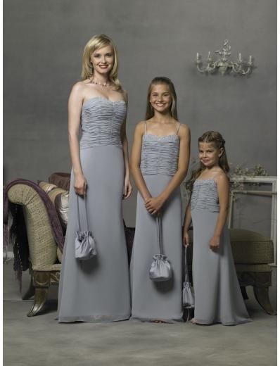 Column/Sheath Spagetti Straps Floor-length Satin Bridesmaid Dress for brides new Style(BD0297)