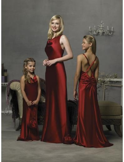 Column/Sheath Halter Top Floor-length Satin Bridesmaid Dress for brides new Style(BD0298)