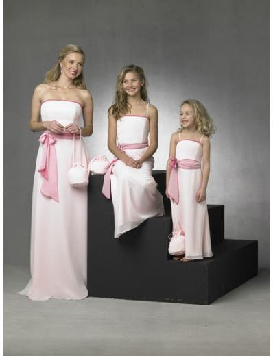 Column/Sheath Strapless Floor Length Chiffon Bridesmaid Dresses for brides new style(BD0271)