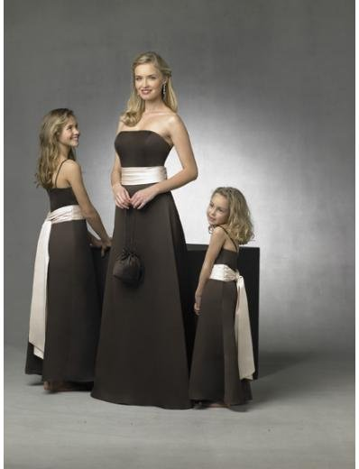 A-Line/Princess Strapless Floor Length Satin Bridesmaid Dresses for brides new style(BD0276)