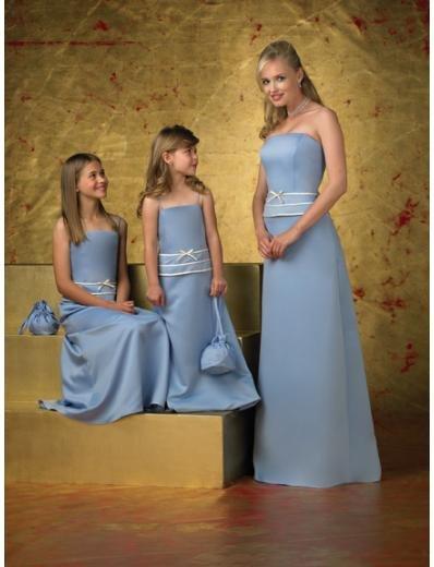 A-Line/Princess Strapless Floor-Length Satin Bridesmaid dress for brides new Style(BD0251)