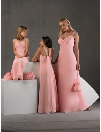 A-Line/Princess V-neck Floor-Length Satin Bridesmaid dress for brides new Style(BD0250)