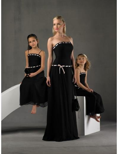 A-Line/Princess Strapless Floor-Length Satin Bridesmaid dress for brides new Style(BD0248)