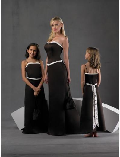 A-Line/Princess Strapless Floor-Length Satin Bridesmaid dress for brides new Style(BD0246)