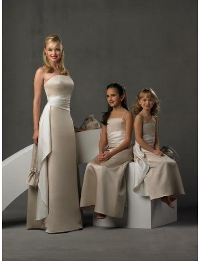 A-Line/Princess Strapless Floor-Length Satin Bridesmaid dress for brides new Style(BD0245)