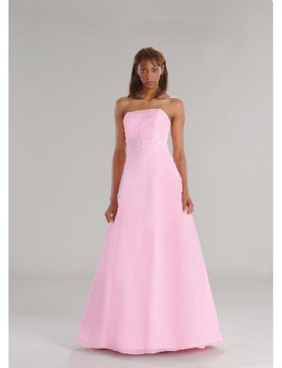 A-Line/Princess Strapless Floor-Length Satin Bridesmaid dress for brides new Style(BD0201)