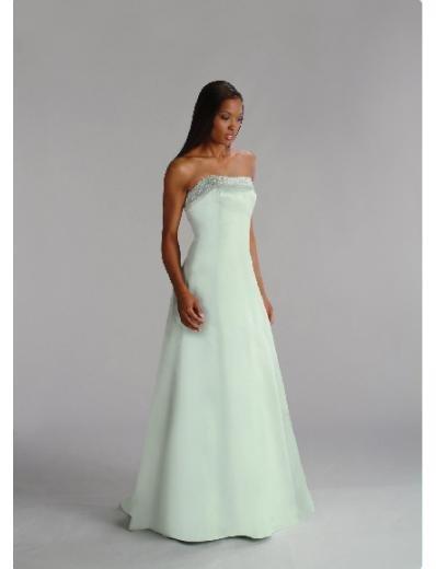 A-Line/Princess Strapless Floor-Length Satin Bridesmaid dress for brides new Style(BD0202)