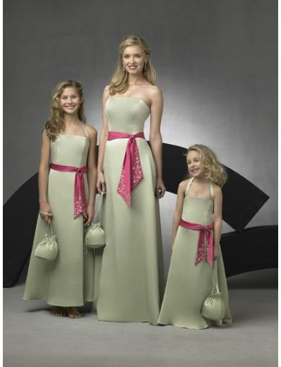 A-Line/Princess Strapless Floor Length Satin Bridesmaid Dresses for brides new style(BD0273)