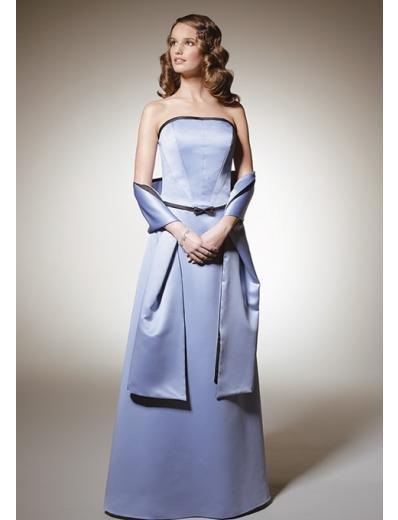 A-Line/Princess Strapless Floor-Length Satin Bridesmaid dress for brides new Style(BD0306)