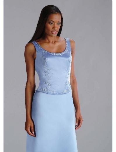A-Line/Princess Scoop Floor-Length Satin Bridesmaid dress for brides new Style(BD0205)