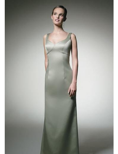 Column/Sheath Scoop Floor-length Satin Bridesmaid Dress for brides new Style(BD0307)