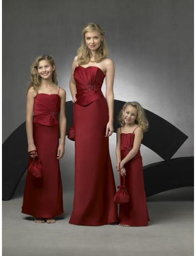 Column/Sheath Strapless Floor Length Satin Bridesmaid Dresses for brides new style(BD0274)