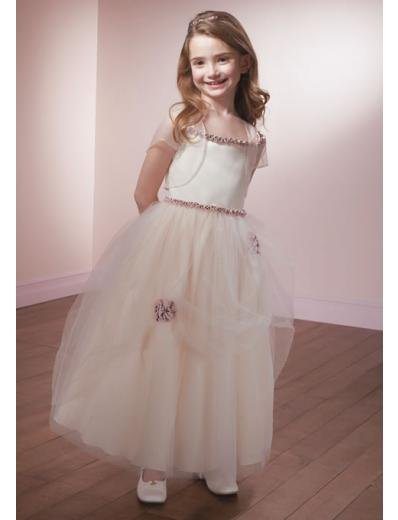 A-line Square Knee-Length Organza Flower Girl Dress 2010 style(FGD0100)