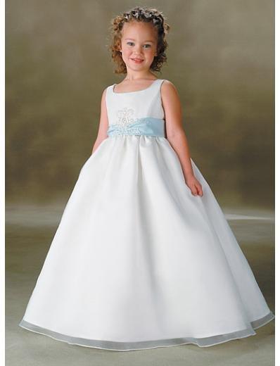 A-Line Round-neck Floor- Length Organza Flower girls Dress new Style(FGD0004)