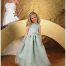 A-line round-neck Floor Length Organza Flower girls Dress 2010 style(FGD0055)