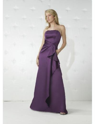A-Line/Princess Strapless Floor Length Satin Bridesmaid Dresses for brides new Style(BD0157)