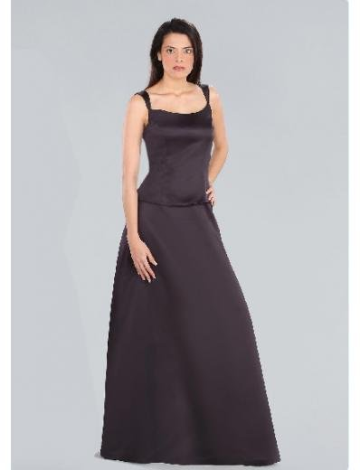 A-Line/Princess Scoop Floor-length Satin Bridesmaid Dresses for brides new Style(BD0190)