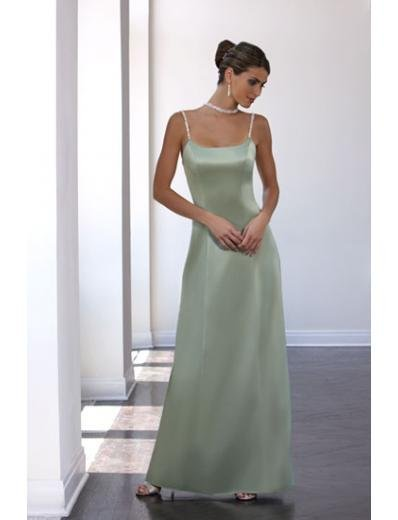 A-Line/Princess Spaghetti Straps Floor-Length Satin Bridesmaid dress for brides new Style(BD0034)